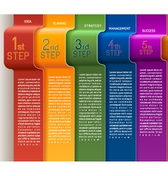 Template five steps vector