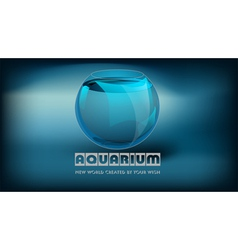 Aquarium and slogan vector