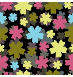 Abstract colorful background with flowers vector