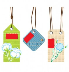 Textile labels vector