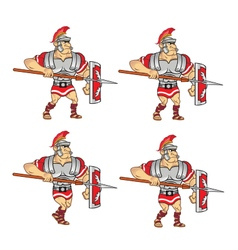 Walking roman soldier sprite vector