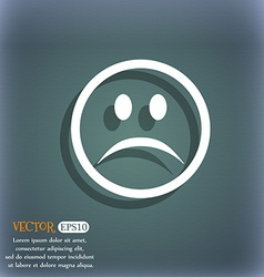 Sad face sadness depression icon symbol on the vector