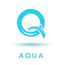 Q letter sign dolphin logo vector