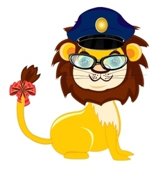 Animal lion police vector