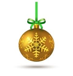 Decorative golden ball vector image