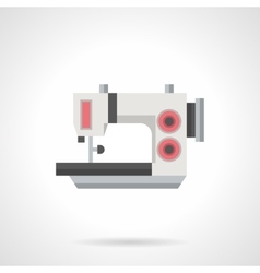 Flat color sewing machine icon vector