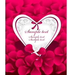 Post card or frames or banners with heart red p vector