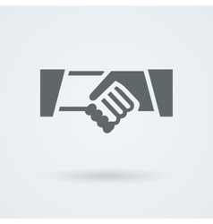 Icon with two hands in a handshake vector