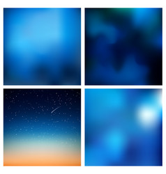 Abstract blue blurred background set 4 vector
