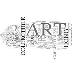 Art collectible hobby text word cloud concept vector
