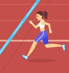 cartoon running vector image