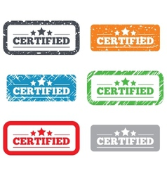 Certified sign icon checked symbol vector