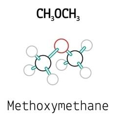 Ch3och3 methoxymethane molecule vector