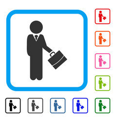 child manager framed icon vector image