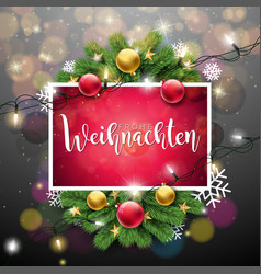 christmas with german frohe vector image
