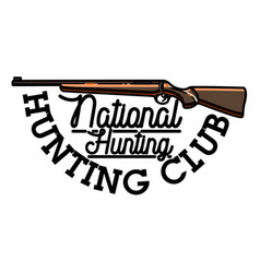 Color vintage hunting club emblem vector