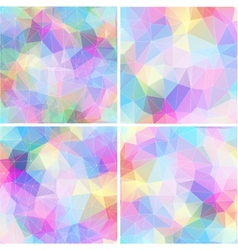 Colorful mosaic banner set vector image