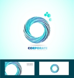 Corporate circle business logo whirlpool rotation vector