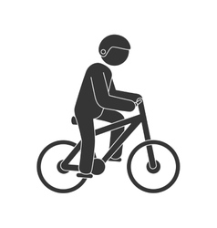Cyclist sport extreme vector
