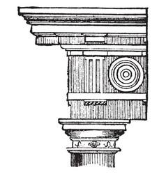 Doric order stood vintage engraving vector