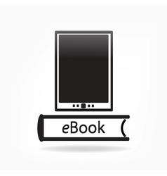 Electronic book concept - vector