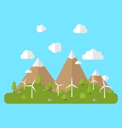 Environment with wind generators vector