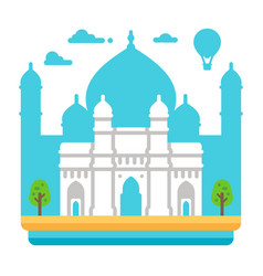 Flat design gateway of india vector