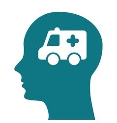 Human profile healthcare icon vector