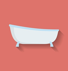Icon of Bath Flat style vector image vector image