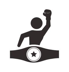 Implement of boxing sport design vector