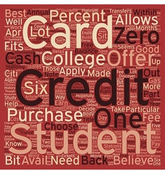 Know Which College Student Credit Card Offer Is vector image vector image