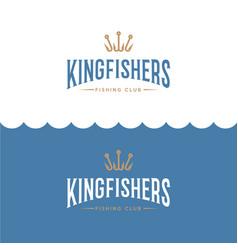 Logo king fisher fishing sport club vector