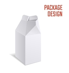 Milk or juice craft box a vector