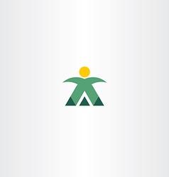 mountain man mountaineer icon logo vector image vector image