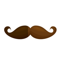 mustache accessory isolated icon vector image