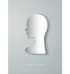 paper figure head of the girl vector image vector image