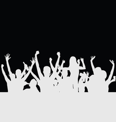 people party silhouette vector image