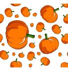 pumpkin seamless vector image vector image