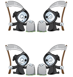 Reaper And Gravestone vector image vector image