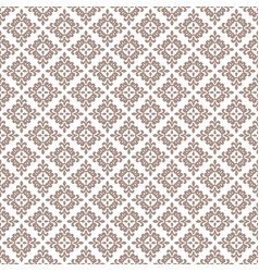 Rosybrown seamless damask pattern background vector