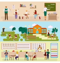 Set of isolated school vector