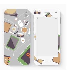 Smart Phone with Isolated Realistic vector image