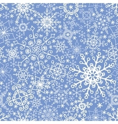 Snowflakes seamless patternWinter laceChristmas vector image vector image