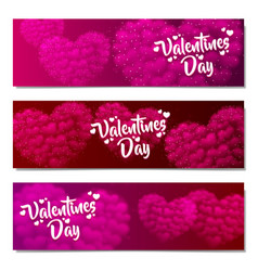 valentines day sale background set pattern vector image vector image