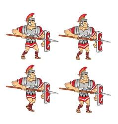 Walking roman soldier sprite vector