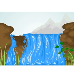 Water fall vector image vector image