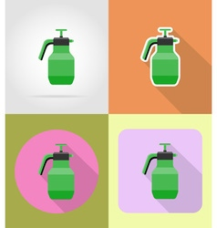 garden tools flat icons 11 vector image