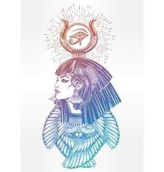 Portrait of a beautiful egyptian goddess vector