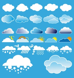 Clouds and weather symbols vector