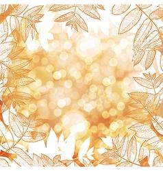 Happy Thanksgiving background Autumn blur vector image